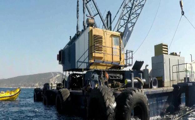 העבודות בגבול הימי עם לבנון (צילום: מועדון הצלילה פוצקה)