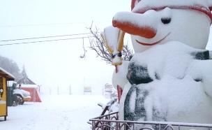 התגעגתם? השלג חוזר לחרמון (צילום: גיא ורון, חדשות 2)
