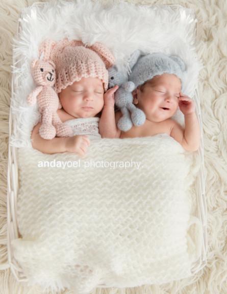 צילום תאומים מתן ותמר - אנדה יואל (צילום: אנדה יואל)
