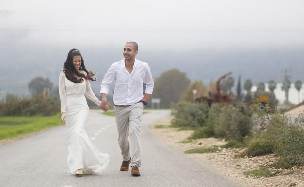 חתונה בגשם (צילום: WE צלמים)