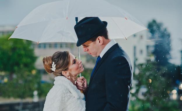 חתונה בגשם (צילום: אילן מור)