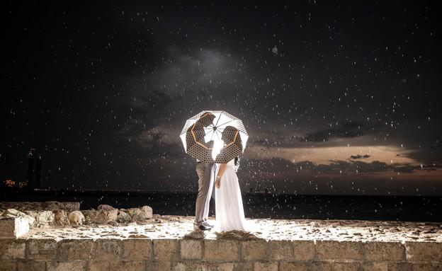 חתונה בגשם (צילום: כתום צלמים)