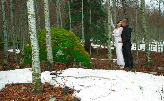 חתונה מושלגת (צילום: יניב שמן)