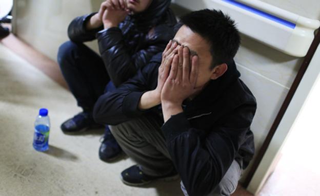 תקרית סילבסטר, סינים בוכים (צילום: חדשות 2)