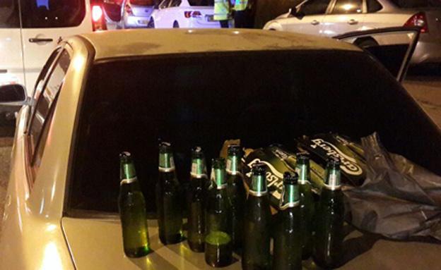 מעצר הנהגים השיכורים, הלילה (צילום: חדשות 2)