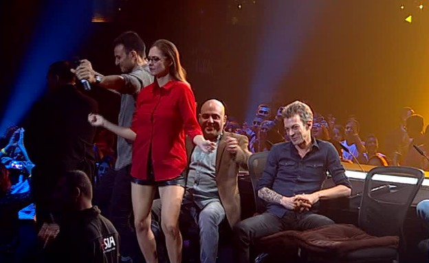 השופטים עושים שמח באולפן (תמונת AVI: מתוך הכוכב הבא, שידורי קשת)