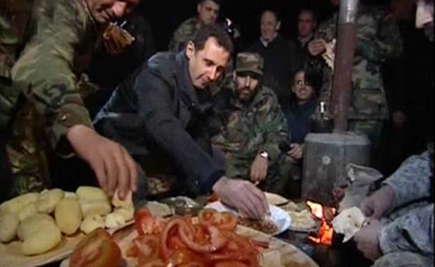 צפו: ארוחת בוקר עם נשיא סוריה