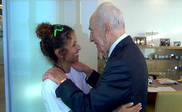 יום הולדת עם הנשיא לשעבר. פרס ודואדי (צילום: חדשות 2)
