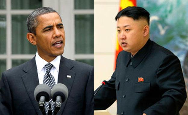 מחריפים את המאבק. קים ג'ונג און וברק אובמה (צילום: רויטרס, AP)