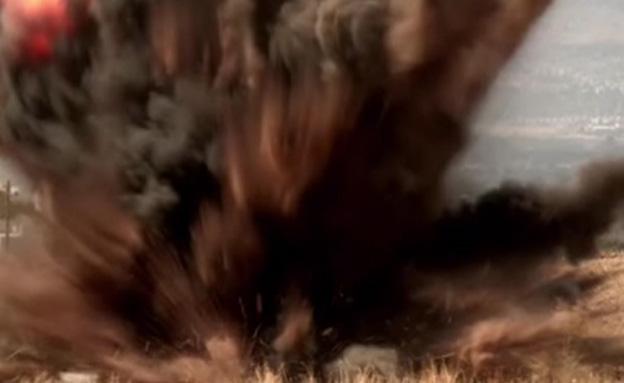 צפו: פיצוץ המוקשים בבניאס (צילום: ieod)
