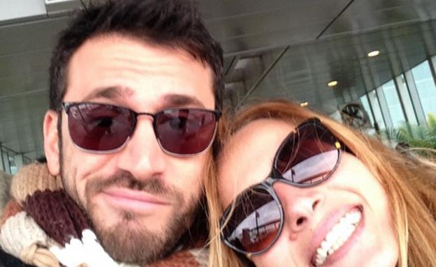 אילנית לוי ואלירז שדה טסים (צילום: instagram)