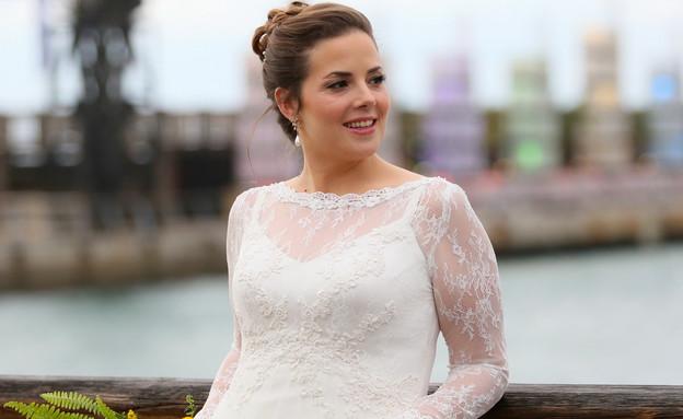 רעות פרנקל בחתונתה (צילום: רוית תורקיה)