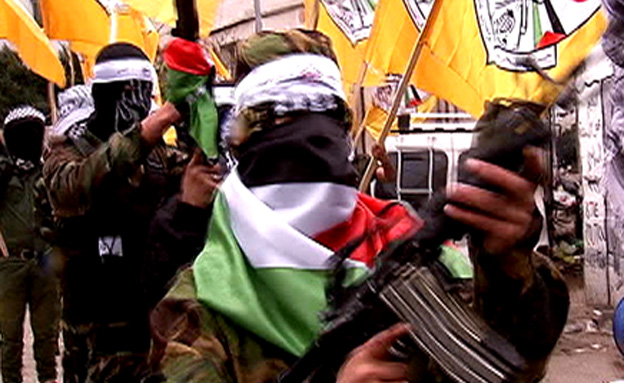 רעולי פנים חמושים בני 8 (צילום: חדשות 2)