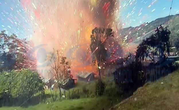 הפיצוץ נקלט במצלמות הטלוויזיה
