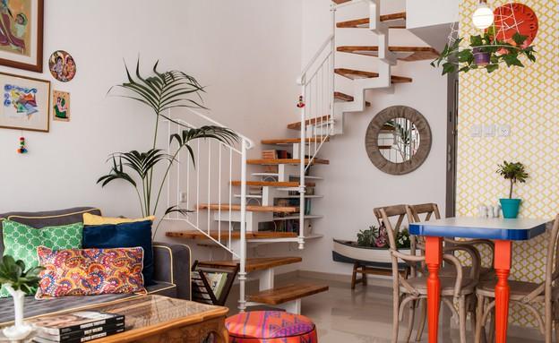דירה סטפני גריב, מדרגות (צילום: יוראי ליברמן)