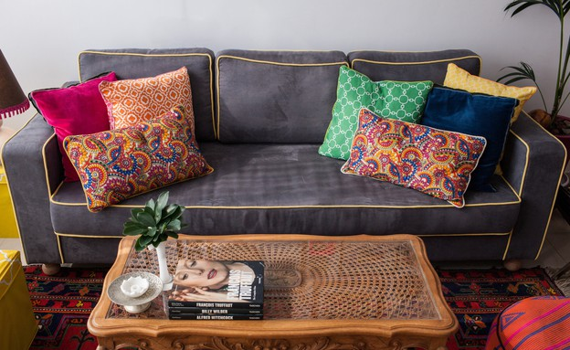 דירה סטפני גריב, ספה (צילום: יוראי ליברמן)