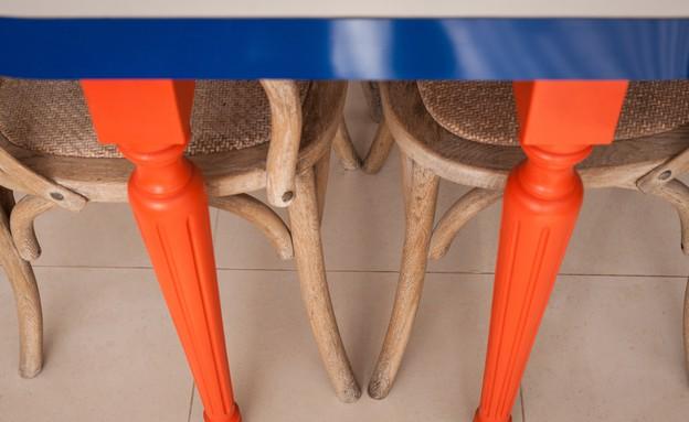 דירה סטפני גריב, רגלי שולחן (צילום: יוראי ליברמן)