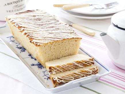 עוגת לימון וחמאה עם זיגוג סוכר (צילום: אסף אמברם, אוכל טוב)