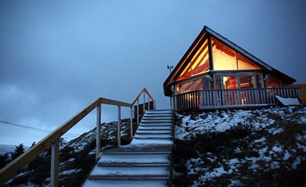 צימרים בשלג (צילום: רון שלף)