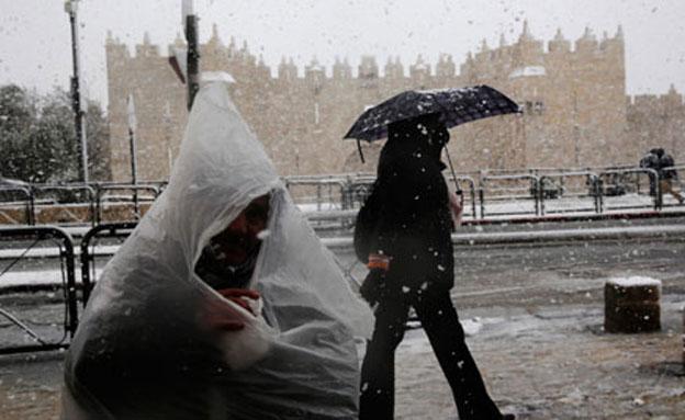 שלג בירושלים (צילום: חדשות 2)