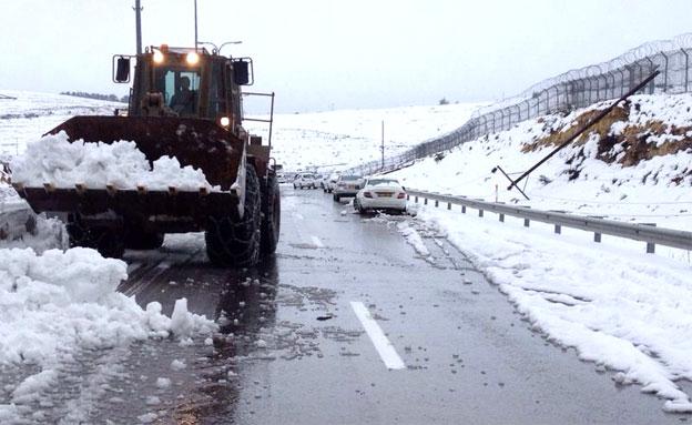 שלג בצפון - החל מהלילה (צילום: חדשות 2)