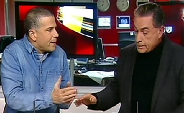 """עימות בין ינון מגל לגדעון לוי: """"מעולם לא מאוחר לחש (צילום: חדשות 2)"""
