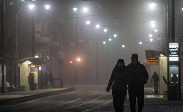 השלג אכזב את הירושלמים (צילום: פלאש 90)