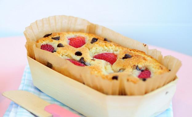 עוגת תותים (צילום: שרית נובק - מיס פטל, אוכל טוב)