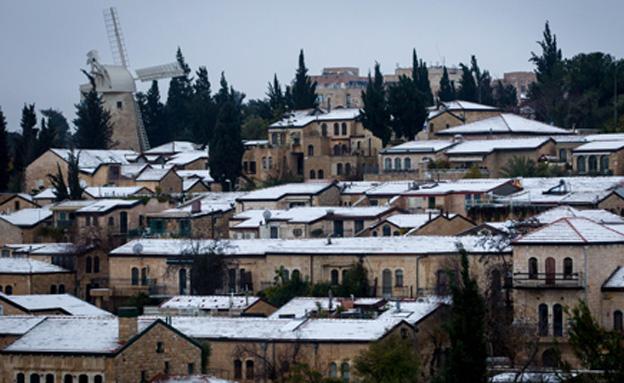 ירושלים בלבן (צילום: פלאש 90)