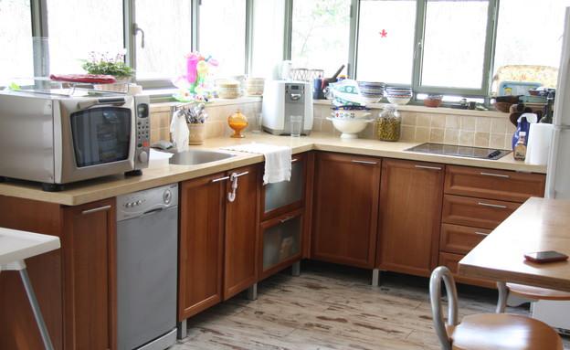 צביעת מטבחים, מטבח חום לפניי (צילום: צילום ביתי)