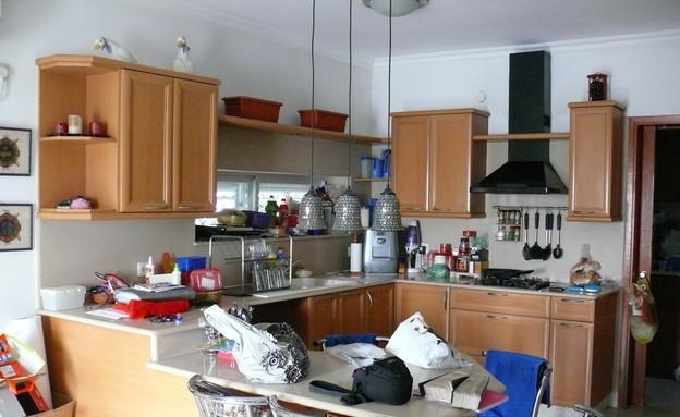 צביעת מטבחים, מטבח לפניי  (2) (צילום: צילום ביתי)