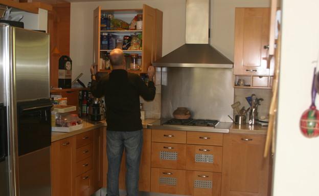 צביעת מטבחים, מטבח לפניי  (צילום: צילום ביתי)