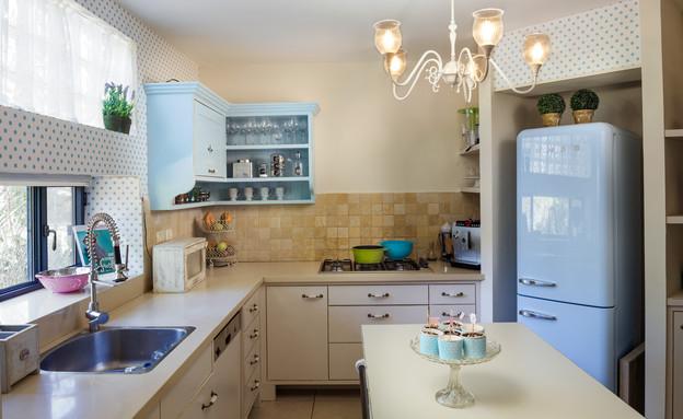 צביעת מטבחים, המטבח של קרין גורן, צילום אודי גורן (צילום: אודי גורן)