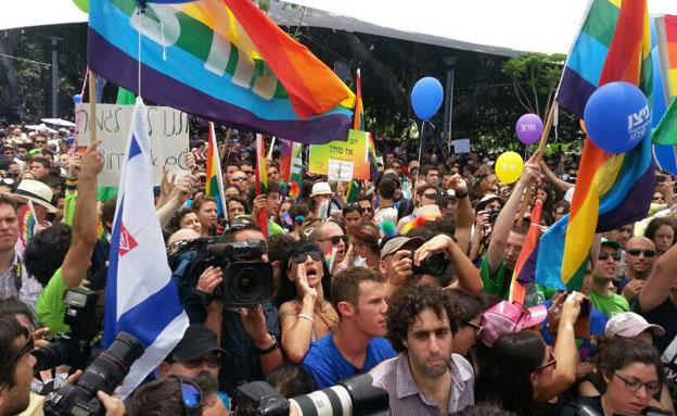 """מי תומך בזכויות הלהט""""ב? ארכיון (צילום: אלירן חייט חדשות 2)"""