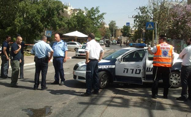 המרדף אחר גנב הרכב הסתיים בירי. ארכיון (צילום: עזרי עמרם, חדשות 2)