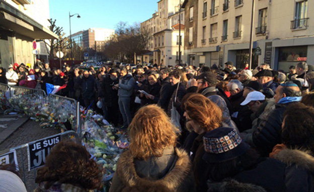 לוויה פריס צרפת (צילום: חדשות 2)