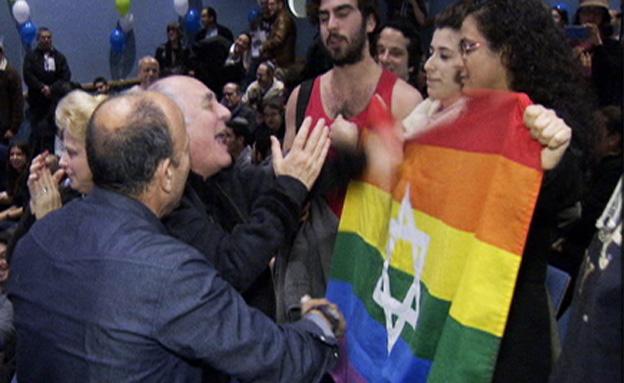 מחאה גאה נגד מתמודד הבית היהודי