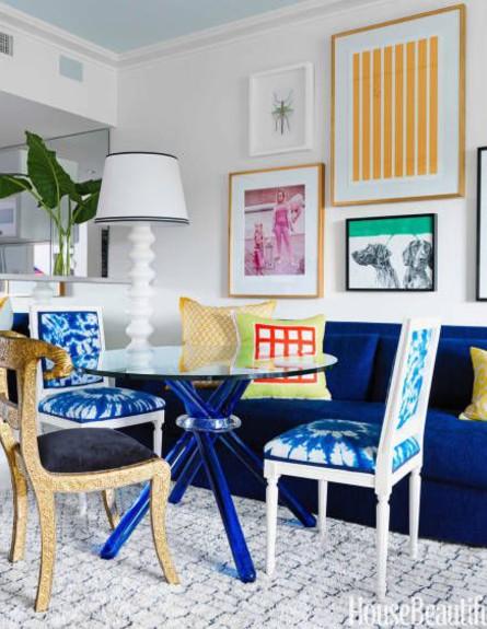 כחול רויאל (צילום: housebeautiful.com)