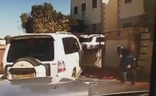 הרכב שנמלט לאחר הירי