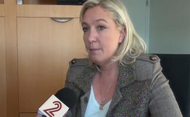 מארין לה פן, היום (צילום: חדשות 2)