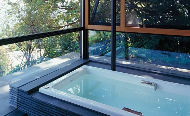 בית יפני, אמבטיה (צילום: Ken'ichi Suzuki)