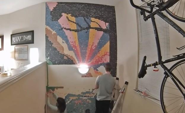בית עם בריכת סהר (צילום: מתוך יוטיוב)