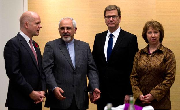 פגישה בין שר החוץ האירני לנציגי המערב בנ (צילום: רויטרס)