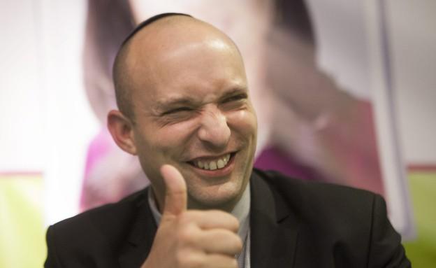 נפתלי בנט בכנס מתפקדים של הבית היהודי  (צילום: תומר אפלבאום, TheMarker)