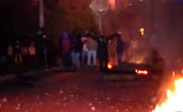מהומות אלימות ברהט (צילום: חדשות 2)