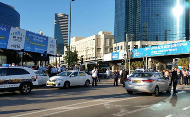 פיגוע דקירה בתל אביב (צילום: חדשות 2)