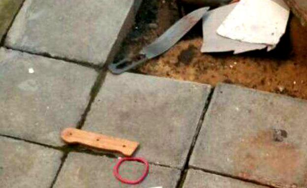 הסכין שבה השתמש המחבל