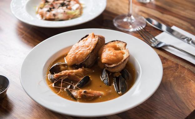 מרק דגים, מסעדת ברוט (צילום: נמרוד סונדרס, אוכל טוב)