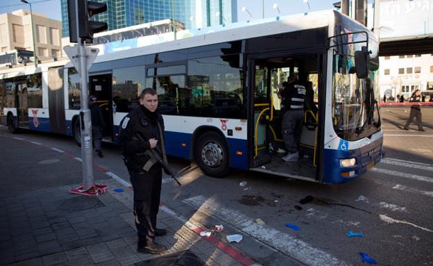 פיגוע הדקירה באוטובוס, השבוע (צילום: AP)