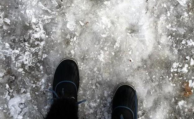 שלג במונטריאול (צילום: אסנת סקובלינסקי)